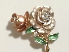 Unbranded Rose Gold Plated Rhinestone Fashion Brooches
