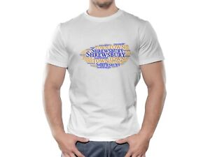 Brand New Shrewsbury Town FC Cloud Design Football T shirt.  Various Sizes