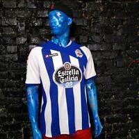 Deportivo La Coruna Jersey Home shirt 2011 - 2012 Lotto Camiseta Mens Size XL