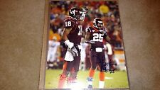 Brandon Flowers D.J. Parker Virginia Tech Hokies Signed 8x10 Chargers, Chiefs