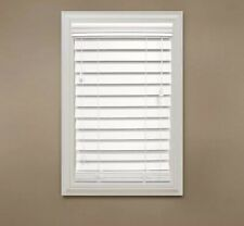 Home Decorators White 2-1/2 in. Premium Faux Wood Blind - 52 x 64