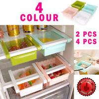 4x Fridge Storage Box Can Holder Kitchen Shelf Organiser Cupboard Holder Basket