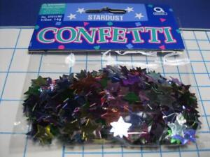 STARDUST (Star design)1/2 oz Foil Metallic MULTI Color Confetti 100s PARTY DECOR