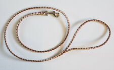 Dog Show Lead - Braided in 2 colours, 4mm Leather with a Trigger Clip