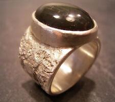 Maturo-Design-Obsidian Anello-pezzo unico di propria oreficeria - 999 argento finemente
