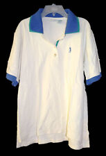 Izod Womens Ladies Short Sleeve Shirt Top Golf Polo White Green Blue Size XL