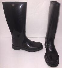 Gucci rubber rain boots black womens size 37 G Us 7