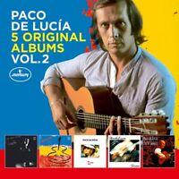 PACO DE LUCIA - 5 ORIGINAL ALBUMS VOL.2  5 CD NEU