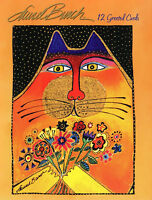 Leanin Tree Greeting Cards 12 Card Box Set GREETED CAT BY LAUREL BURCH