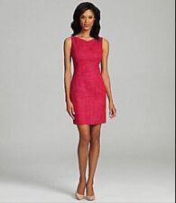 Elie Tahari Pink Tweed Sheath Dress, Sz 4