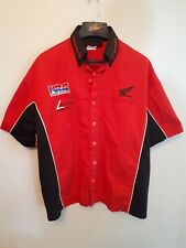 Honda Racing shirt red & black  button front crests XL real nice