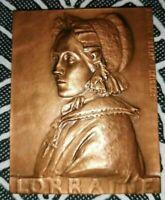 1920s French Art Nouveau bronze medal by Ernesta Robert-Merignac