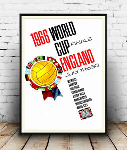 1966 World cup England , Reproduction poster, Wall art.