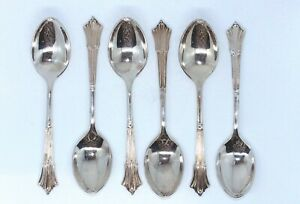 SET OF SIX VINTAGE RODD ALBANY A1 EPNS SILVER PLATED TEASPOONS IN GOOD CONDITION