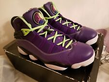 Jordan 6 Rings, Purple, Pink and Lime Green Size Men's 10.5