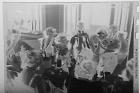 (1) B&W Press Photo Negative Group Table Drinking Canada Dry Champagne T2449
