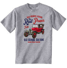 Vintage french voiture CITROEN 5CV Trèfle 1-Nouveau T-shirt en coton