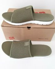 Women's Fitflop Airmesh Sliders Sandals - Size 7 (EUR 41) Avocado Colour - New