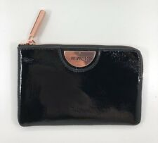 fe09be145624 Mimco Fold Wallet Pouch Petite Black Leather Rose Gold Rrp149 REDUCED