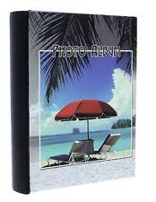"Black Slip In Photo Album 200 6"" x 4"" Photos Memo Holiday Memories Summer Gift"