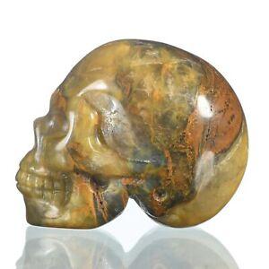 "1.57""Natural Pietersite Carved Skull Metaphysic Healing Power #33U64"