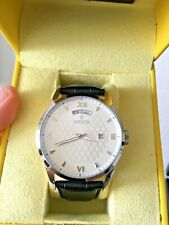 Invicta 45mm men's watch black leather strap silver dial NEW WITH BOX