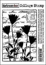 NEW Darkroom Door Rubber Stamp Pressed Flowers