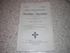 1928.revue internationale des sociétés secrètes.N°1.franc-maçonnerie