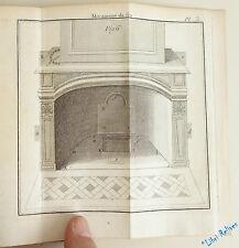 GAUGER La Mécanique du Feu 1749 complet avec 12 planches traité des cheminées