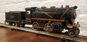 Lionel 258 Locomotive with brass trim & 257T coal tender.  Running Great!