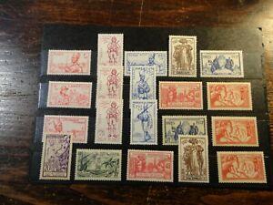 Timbre France colonies Françaises lot de timbres neuf**/* voir scan