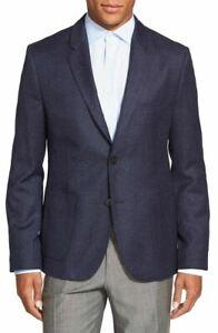Hugo Boss Men's 'Andto' Slim Fit Wool Silk Blend Blue Sport Coat Blazer 40R