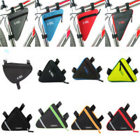 Waterproof Cycling Bike Bicycle Triangle Frame Front Bag Saddle Panniers Pouch