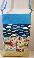 "Quilted Camper Tote Bag 12""x19"" 22"" Handle Drop W Clasps & D Rings Hardware"