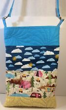 """Quilted Camper Tote Bag 12""""x19"""" 22"""" Handle Drop W Clasps & D Rings Hardware"""