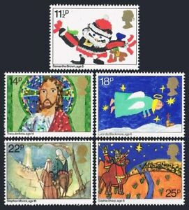 Great Britain 960-964, MNH. Michel 895-899. Christmas 1981. Children's drawings.
