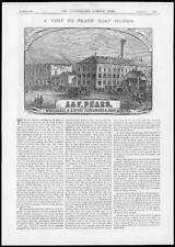 1882 Antique Print - LONDON Pears Soap Makers Works Exporters Perfumers (200)