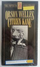 ORSON WELLES in CITIZEN KANE The 50th Anniversary (Sealed NEW VHS, 1991) , cc