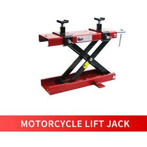 BEMOFRLAY 1100LBS Motorcycle Center Scissor Lift Jack ATVs Dirt Bike Scooter Crank Hoist Lift Stand Blue