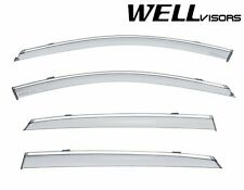 For 2016-UP Cadillac CT6 Sedan WellVisors Side Window Visors W/ Chrome Trim