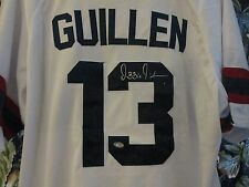 AUTOGRAPH Ozzie Guillen SIGNED CHICAGO White Sox WHITE Extra Large JERSEY COA
