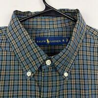 Ralph Lauren Casual Button Down Shirt Men's Size XL Long Sleeve Multicolor Plaid