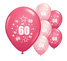 """8 X 60TH BIRTHDAY BALLOONS 12"""" HELIUM QUALITY PARTY DECORATIONS (PA)"""