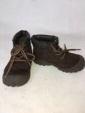 Oshkosh B'gosh Edward Boys Toddler Suede Canvas Hiking Winter Boots Size 7 Brown