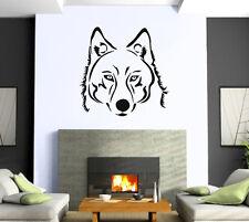 Wolf Tatoo Animal Predator Power  Wall Art Decor Vinyl Sticker z508