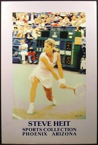 Steve Heit Signed Poster Tennis Phoenix Gallery Show SUBMIT AN OFFER