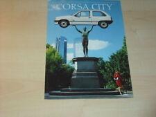 17511) Opel Corsa A City Prospekt 1989