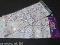 Wedding Day Giant Party Banners 9ft / 2.7m New Sealed Banner