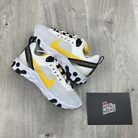 NIKE REACT 55 SE GOLD WHITE BLACK UK 7.5 EU 42 US 8.5 - CI3831 100 NEW