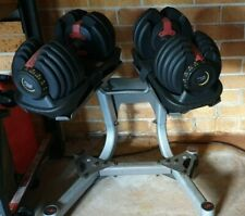 Adjustable Dumbbells with Stand 2x 24kg
